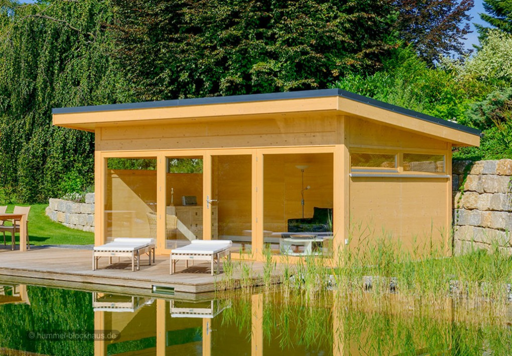 moderne gartenh user nach mass hummel blockhaus. Black Bedroom Furniture Sets. Home Design Ideas