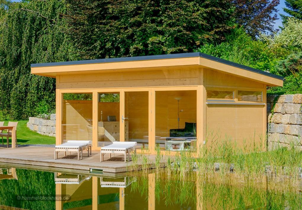 Moderne gartenh user nach mass hummel blockhaus - Gartenhaus glasfront ...
