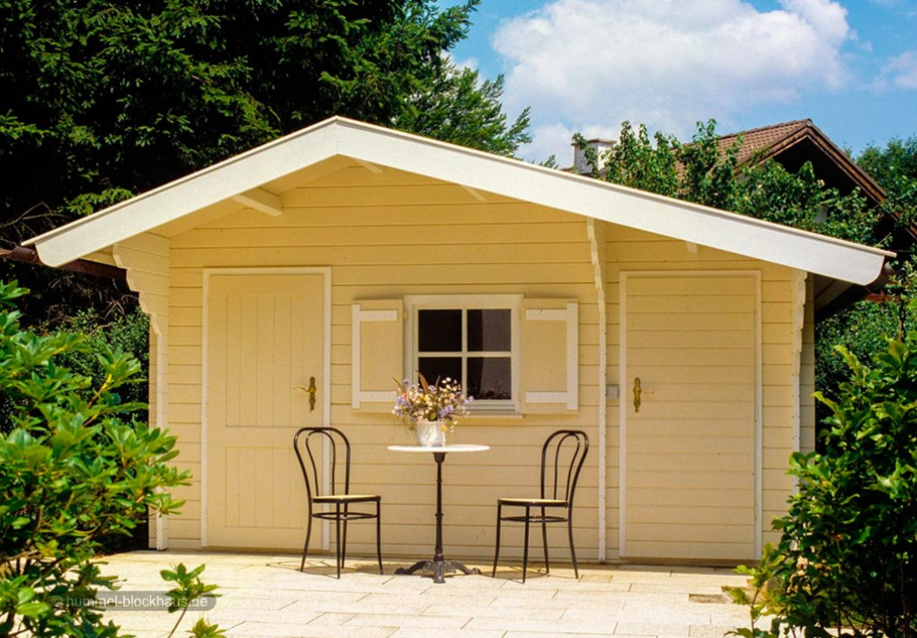 klassische gartenblockh user nach mass hummel blockhaus. Black Bedroom Furniture Sets. Home Design Ideas