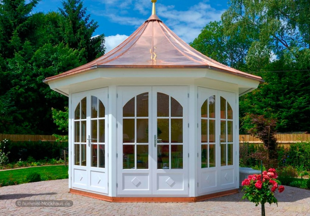 gartenpavillons nach mass hummel blockhaus. Black Bedroom Furniture Sets. Home Design Ideas