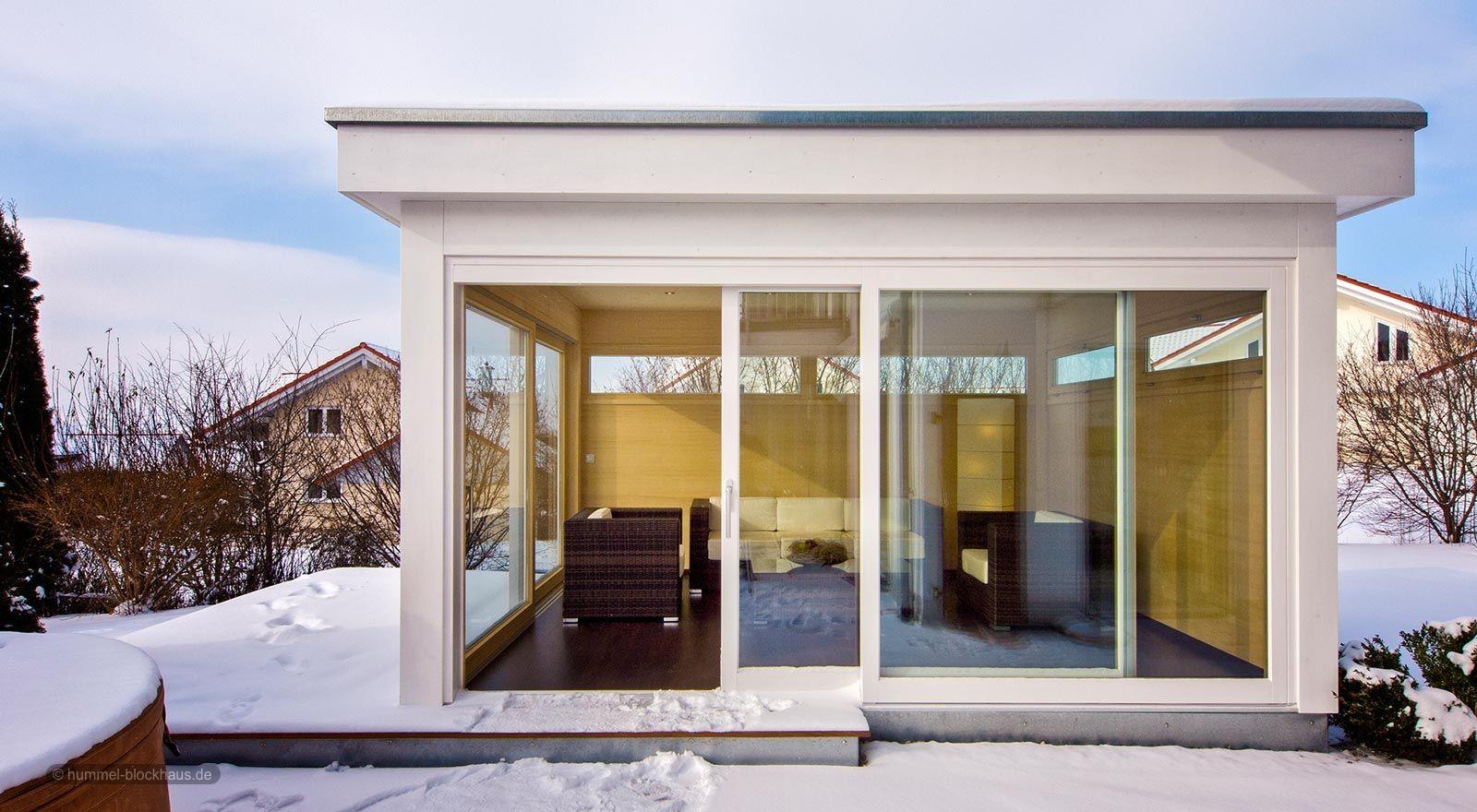 """Gartenhaus Mit Lounge gartenhaus """"lounge"""" mit flachdach"""