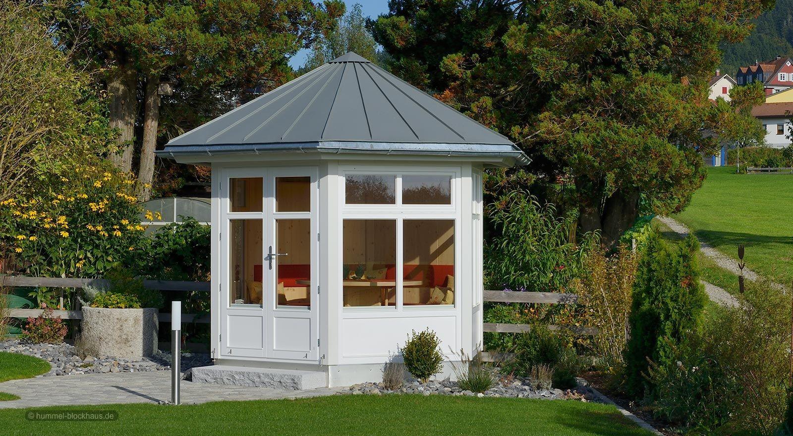 gartenpavillon modern mediona hummel blockhaus. Black Bedroom Furniture Sets. Home Design Ideas