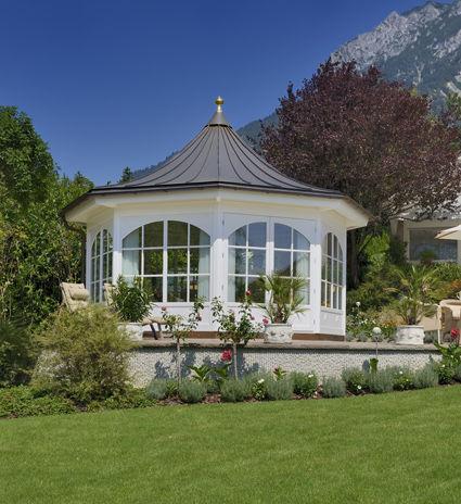 Hochwertiger Gartenpavillon Aus Holz Geschlossen Oder Offen